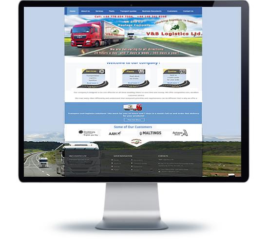 Уеб дизайн и изработка на уеб сайт за фирма с транспортни услуги